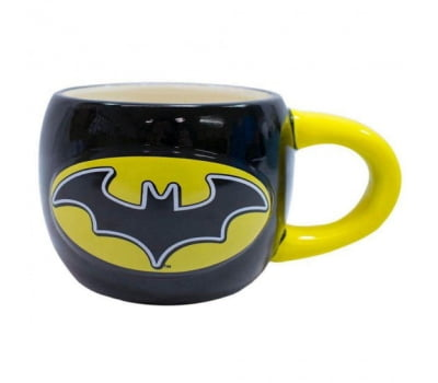 Caneca Batman Grande 3d Oval 600ml