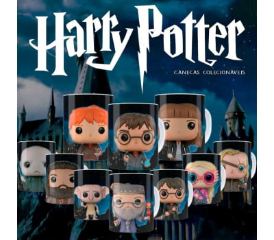 Kit - 10 Canecas Funkos Harry Potter